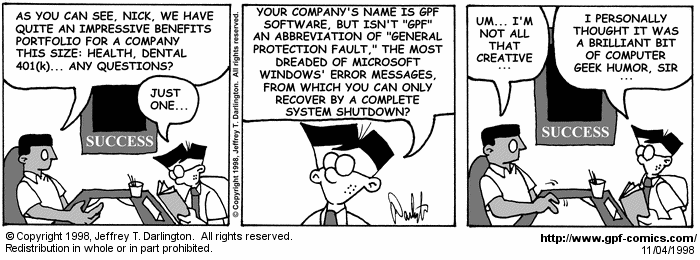 [Comic for Wednesday, November 4, 1998]