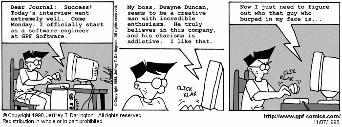 [Comic for Saturday, November 7, 1998]