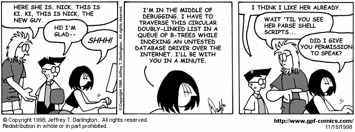 [Comic for Wednesday, November 18, 1998]