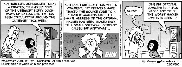 [Comic for Saturday, February 3, 2001]