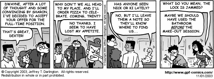 [Comic for Saturday, November 1, 2003]